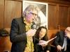 L'artista Marco N. Rotelli, il poeta Lian Yang, il sindaco di Pienza Fabrizio Fè