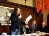 Il poeta Lian Yang, il sindaco di Pienza Fabrizio Fè, l'assessore alla cultura Giampietro Colombini, il presidente del Centro Studi Mario Luzi di Pienza Nino Petreni