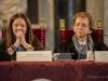Il vice sindaco Cristina Giachi e Paolo A. Mettel, Presidente dell'Associazione Mendrisio Mario Luzi Poesia del Mondo