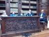 Il tavolo dei relatori da destra: Paola Baioni, Anna Dolfi, Paolo Mettel, Daniele Piccini, Nino Petreni.