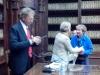 Il nostro Presidente e i saluti tra Paola Baioni e Anna Dolfi.