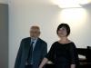 Il maestro Paolo Arata con il soprano Joo Cho