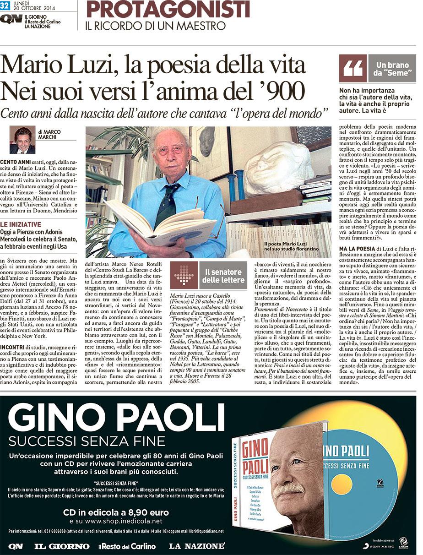 Mario luzi la poesia della vita nei suoi versi l 39 anima del 900 associazione mendrisio mario - La finestra del mondo poesia ...