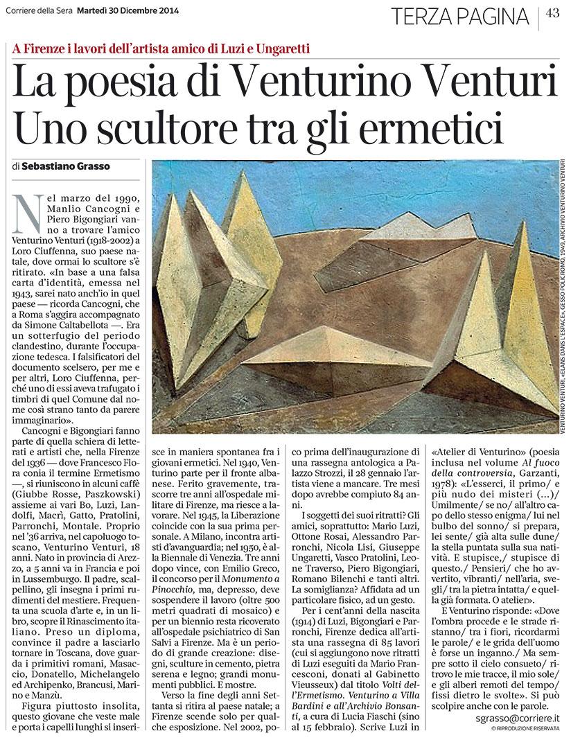 Corriere della sera la poesia di venturino venturi associazione mendrisio mario luzi poesia - La finestra del mondo poesia ...