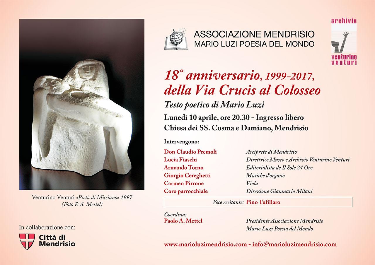 18 anniversario 1999 2017 della via crucis al colosseo associazione mendrisio mario luzi - A finestra carmen consoli testo ...