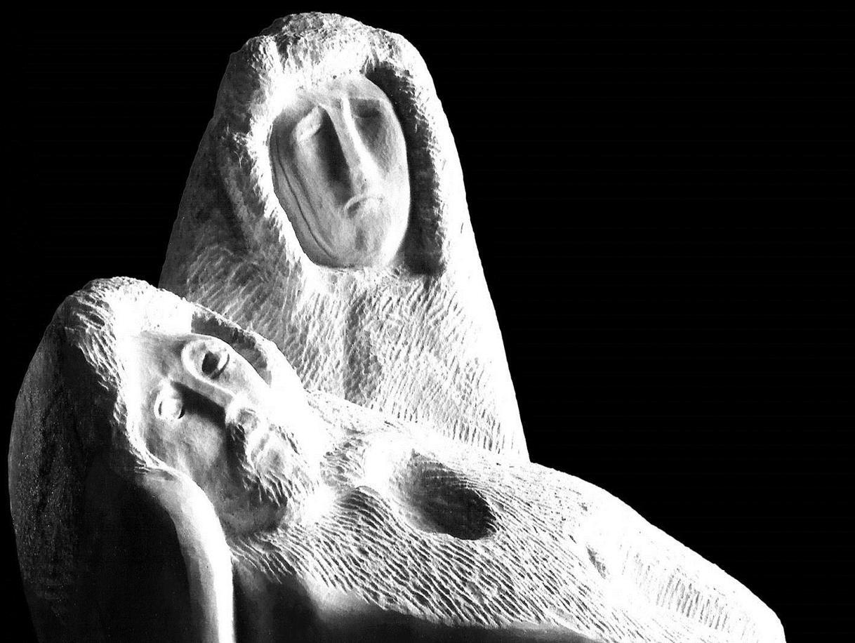La «Pietà» di Micciano, opera di Venturino Venturi (1918-2002), particolare.